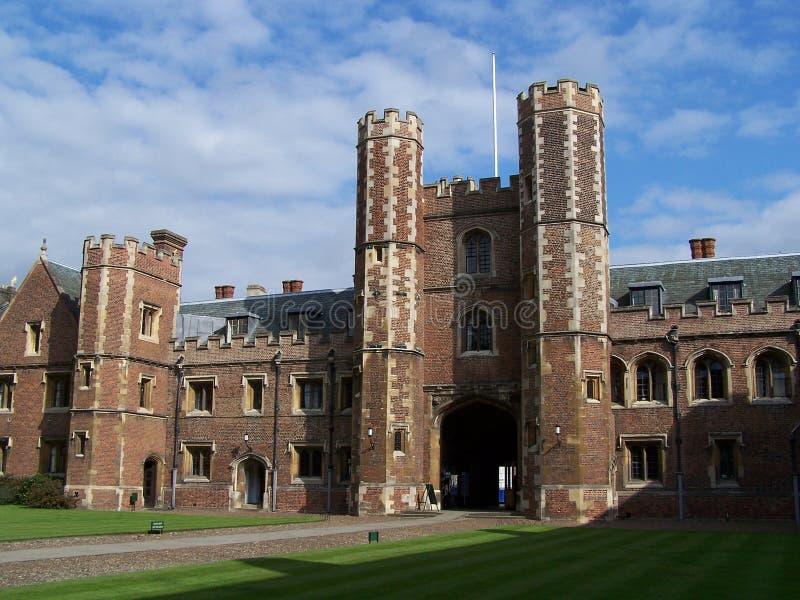 剑桥学院约翰s st 库存图片