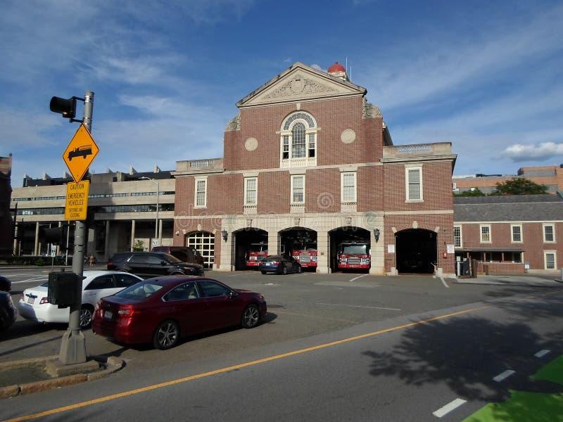 剑桥火总部,剑桥,马萨诸塞,美国 免版税库存图片