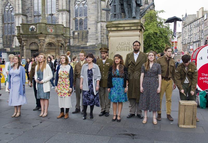 剧团在爱丁堡 库存照片