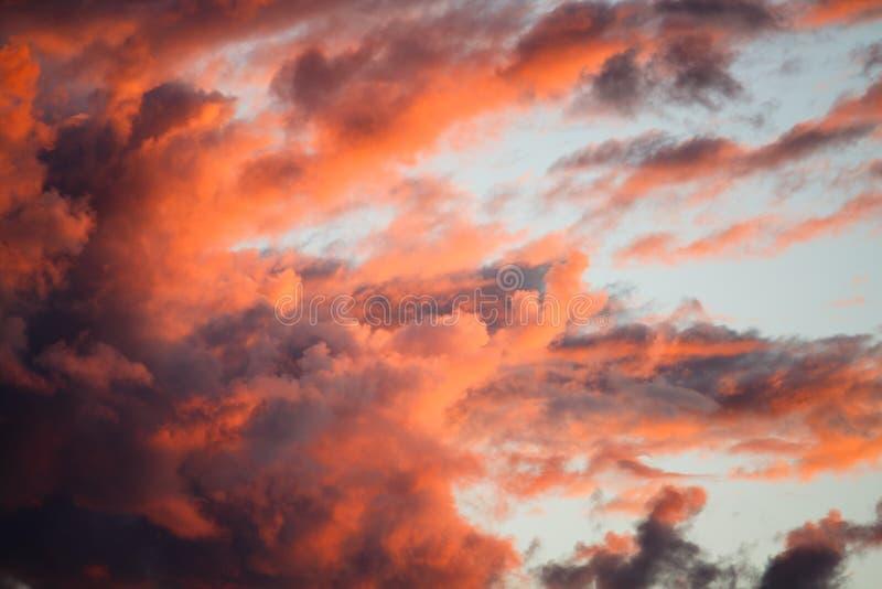 剧烈的云彩 库存照片