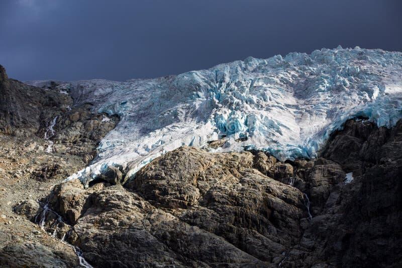 剧烈的冰川 库存图片