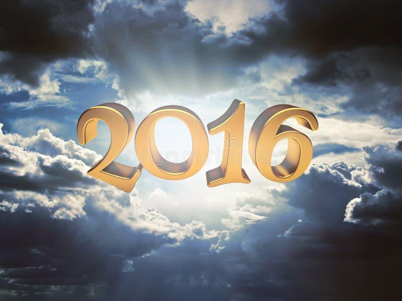 剧烈的天空和2016年 免版税库存图片