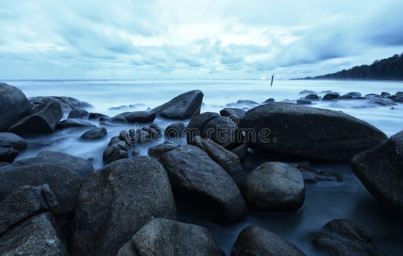 剧烈的海景 库存照片