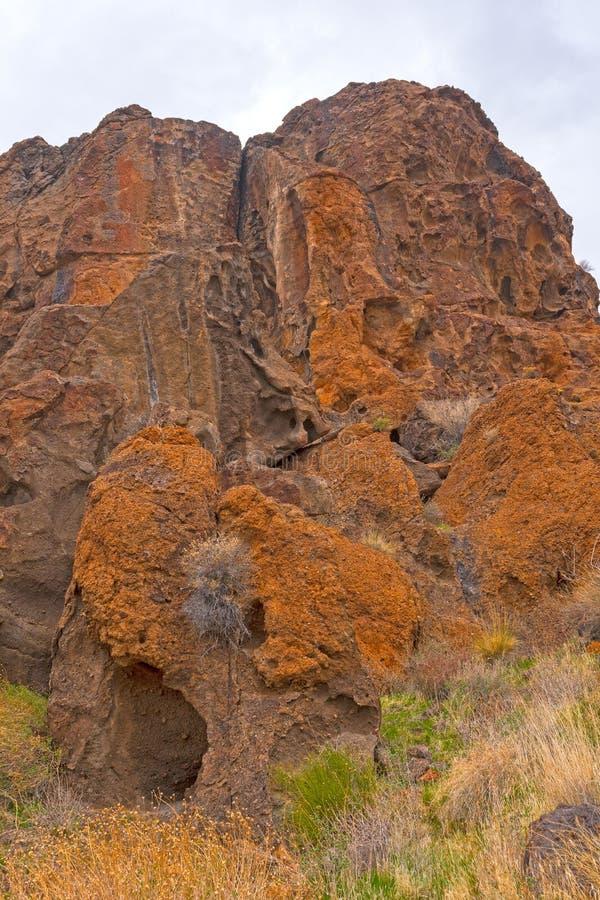 剧烈的碎片在沙漠 免版税库存图片