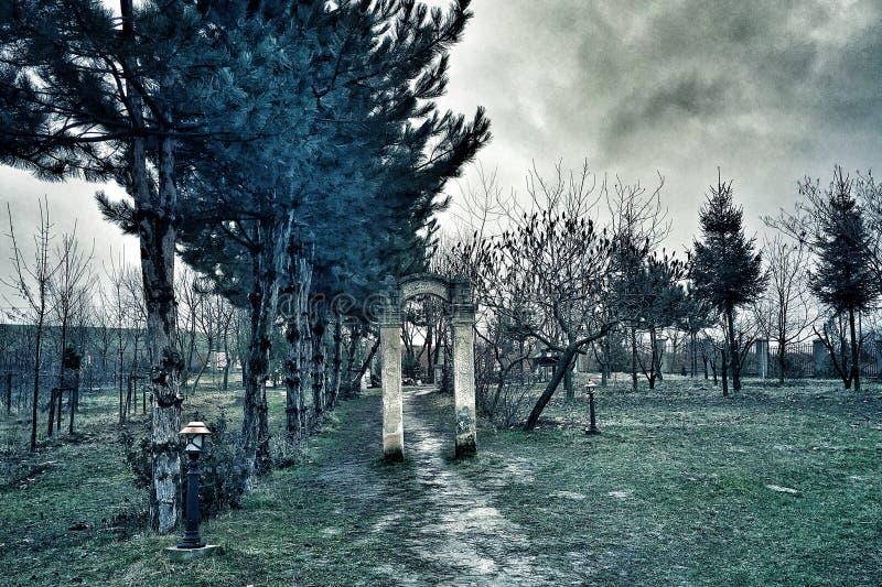 剧烈的风雨如磐的看法 库存图片