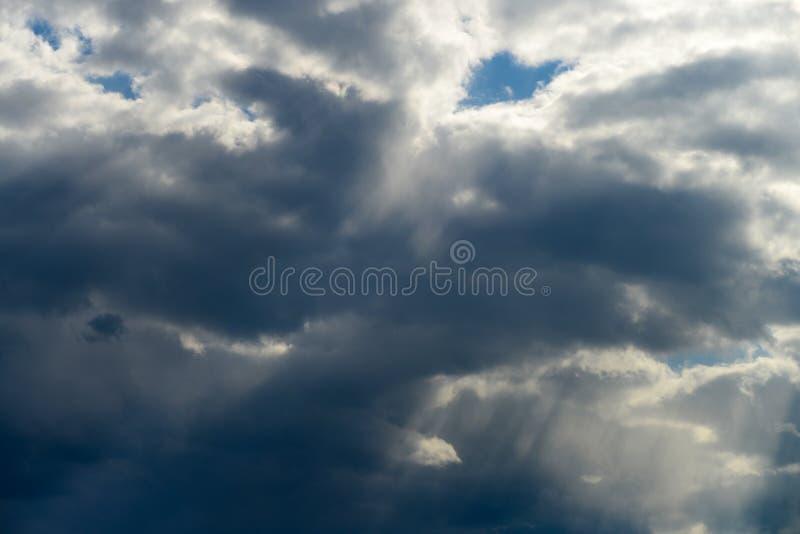 剧烈的cloudscape 免版税图库摄影