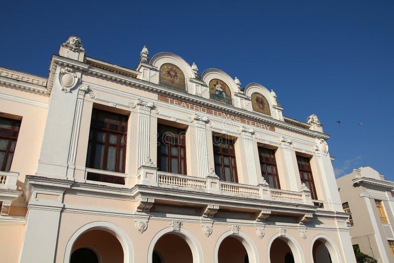剧院在古巴 免版税库存图片
