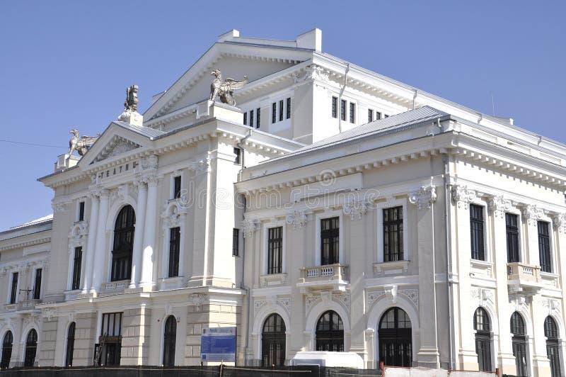 剧院在Drobeta Turnu-Severin,罗马尼亚 图库摄影
