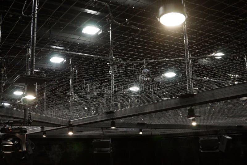 剧院导线向上天花板网 图库摄影