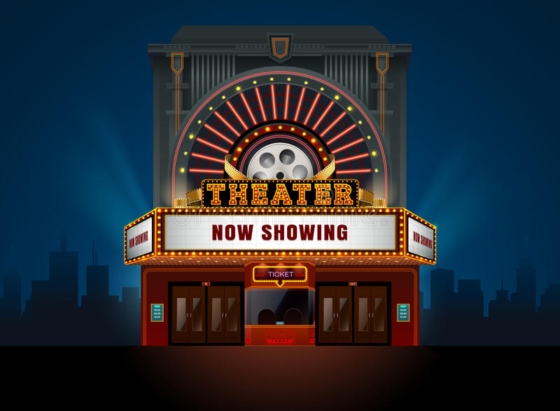 剧院戏院大厦 库存照片