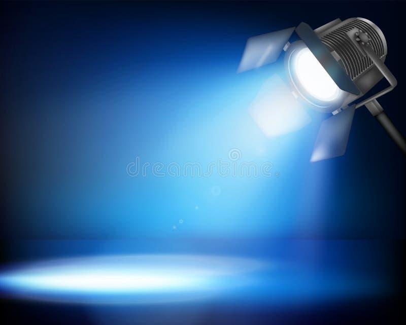 剧院斑点照明设备。传染媒介例证。 向量例证