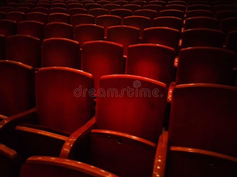 剧院椅子 库存照片