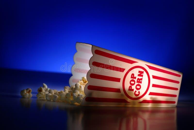 从剧院电影快餐的玉米花 免版税库存图片
