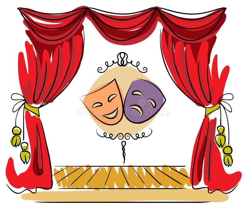 剧院阶段传染媒介例证 皇族释放例证