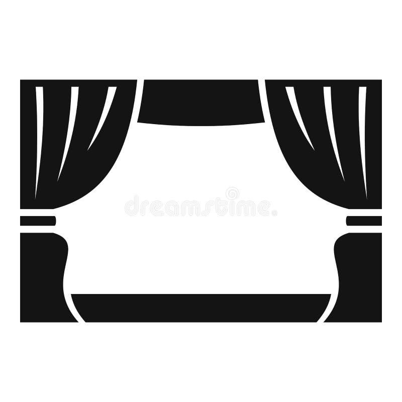 剧院阶段象,简单的样式 库存例证