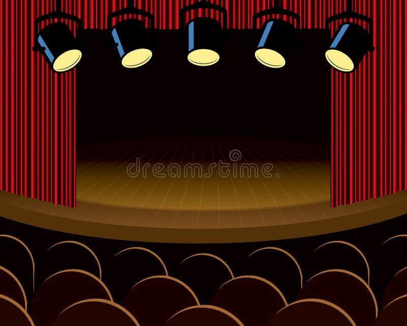 剧院阶段 库存例证