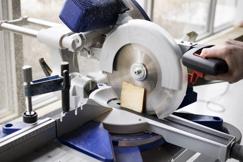 剪切木头 库存图片