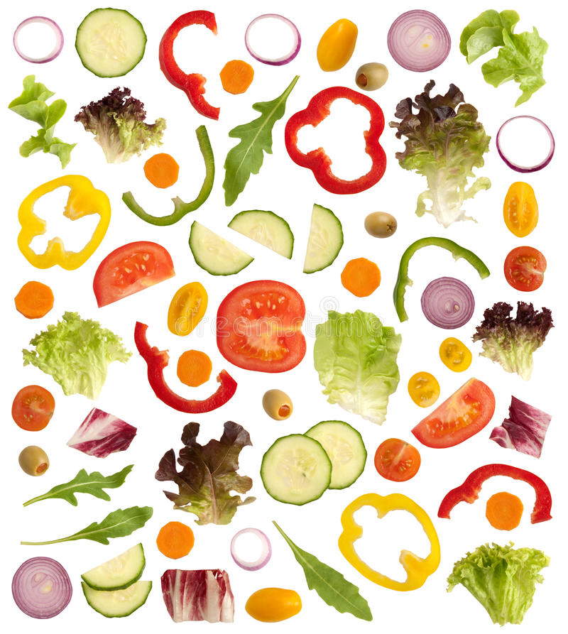 剪切未加工的蔬菜 皇族释放例证
