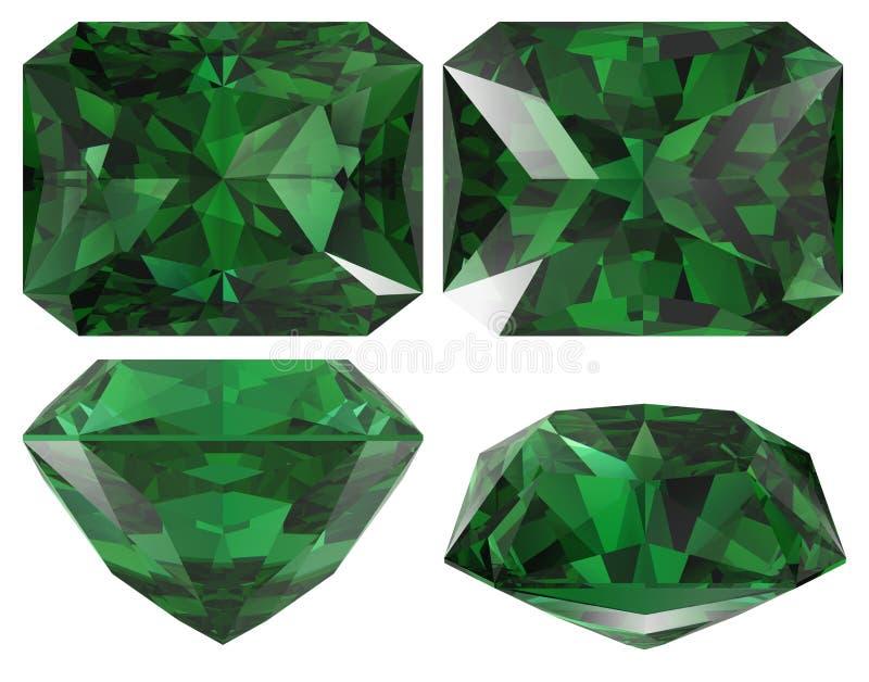 剪切查出的绿宝石 向量例证