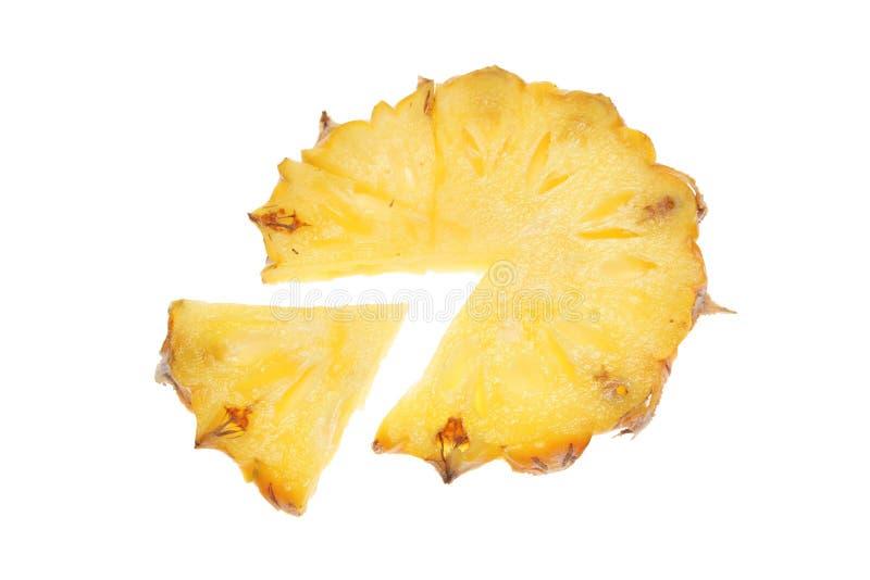 剪切菠萝楔子 免版税图库摄影