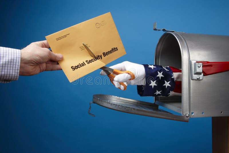 剪切证券社交的福利 免版税库存照片