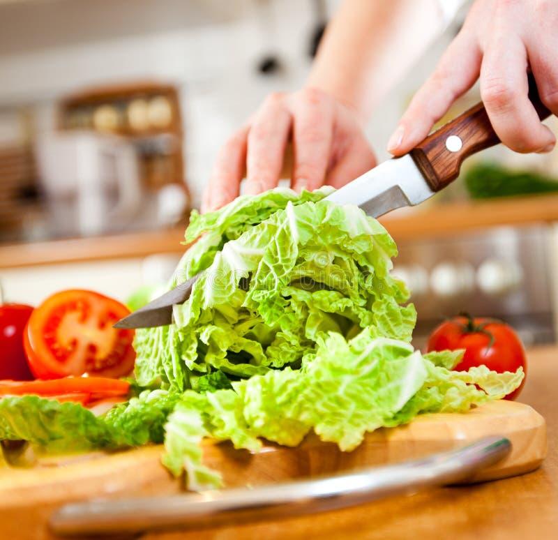 剪切递s蔬菜妇女 免版税库存图片