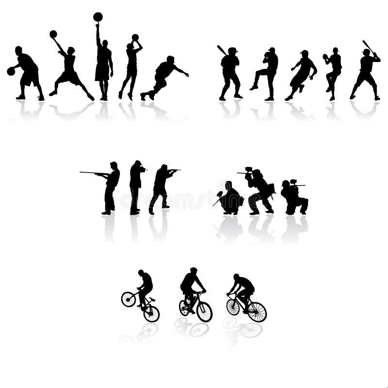 剪影体育运动 向量例证