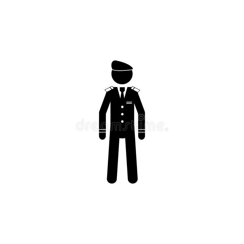 剪影军事贝雷帽象 特勤元素象 优质质量图形设计象 行业标志,被隔绝的sy 向量例证