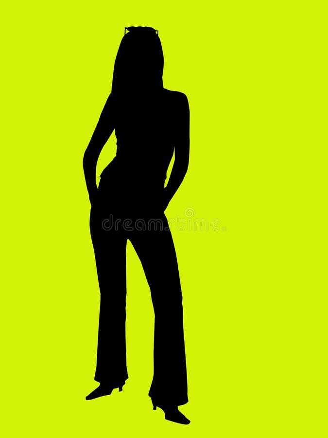 剪影妇女年轻人 库存照片
