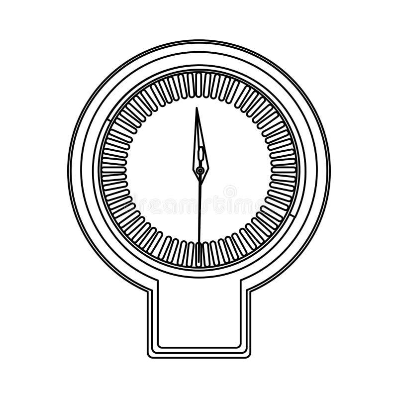 剪影屏幕秒表定时器柜台象 皇族释放例证