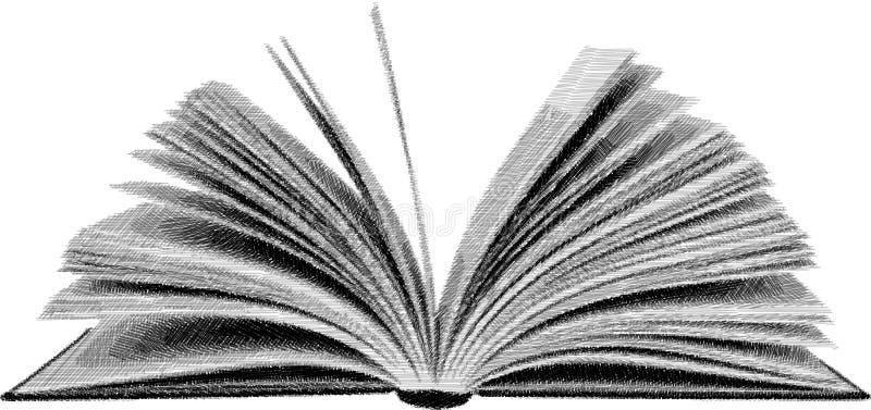 剪影开放书 免版税库存图片