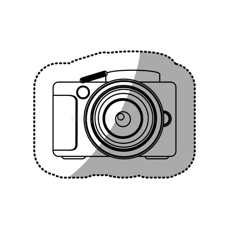 剪影技术专业照相机象 向量例证