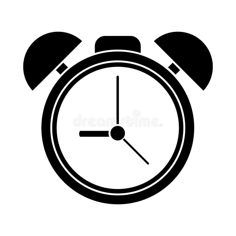 剪影时钟时间手表警报 皇族释放例证