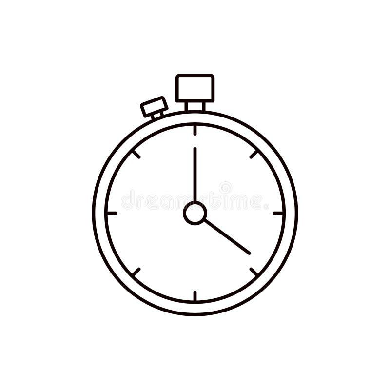 剪影有定时器的剪影秒表 库存例证