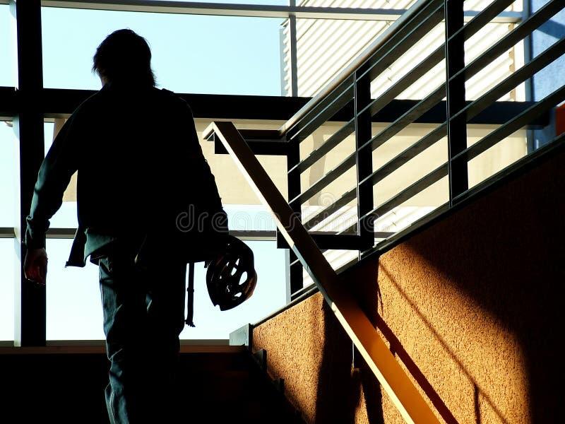 剪影楼梯 免版税库存图片