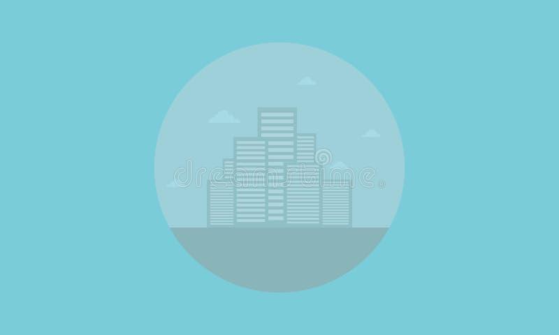 剪影汇集都市城市象  向量例证