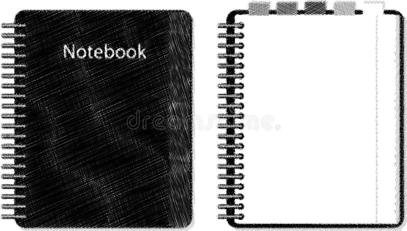剪影笔记本 免版税图库摄影
