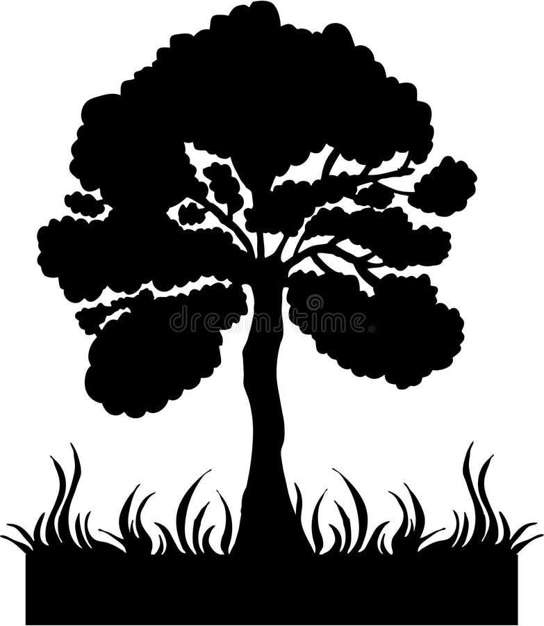 剪影结构树向量 库存例证
