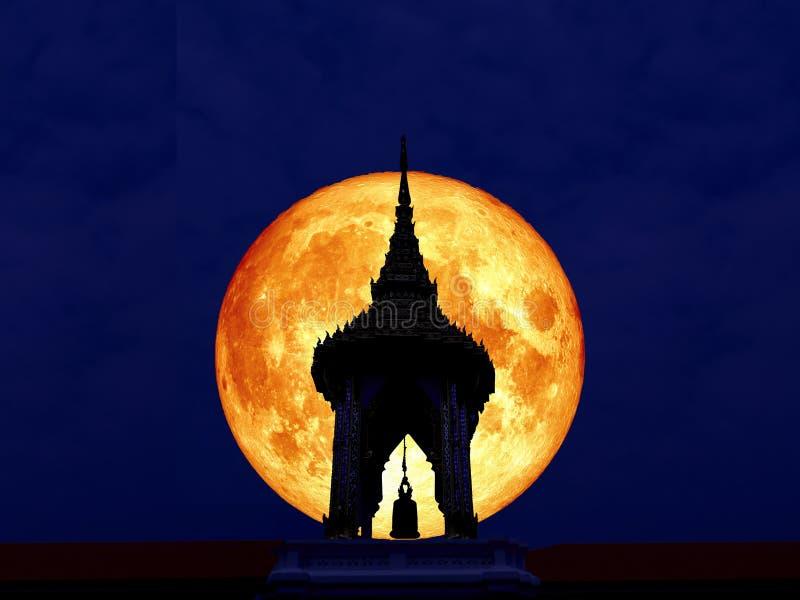 剪影钟楼超级纯种月亮后面图片
