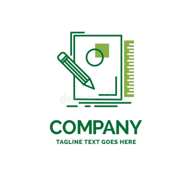 剪影,速写,设计,凹道,几何平的企业商标tem 皇族释放例证