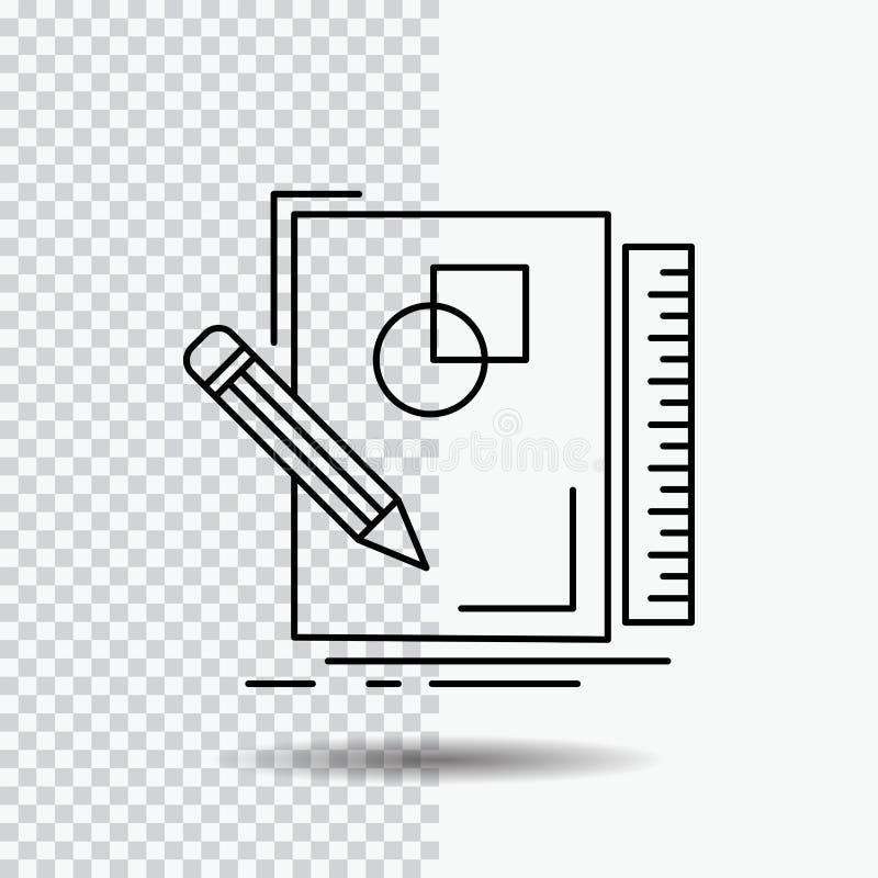 剪影,速写,设计,凹道,在透明背景的几何线象 r 皇族释放例证