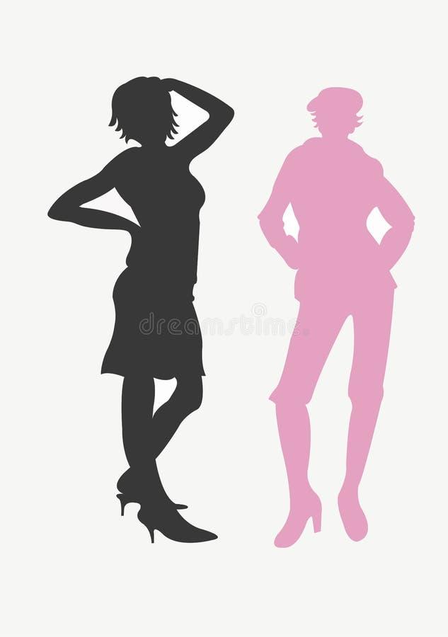 Download 剪影 库存例证. 图片 包括有 女性, 夹子, 剪影, 妇女, 人员, 女孩, 艺术, 爱好健美者, 例证, 人们 - 300157