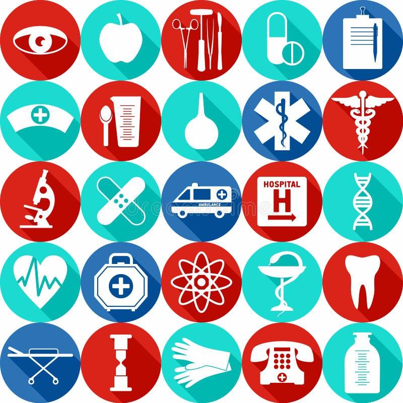 剪报包含数字式图标例证医疗路径集 皇族释放例证