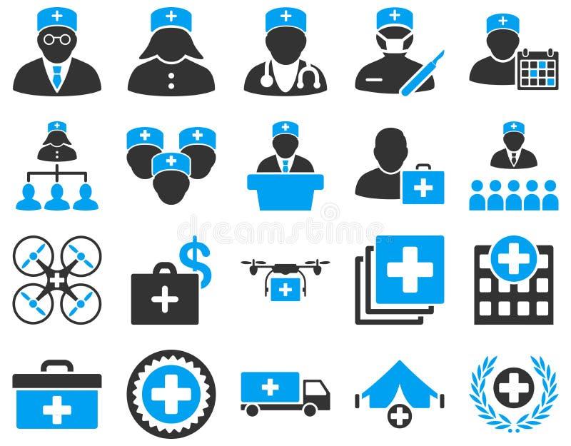 剪报包含数字式图标例证医疗路径集 向量例证