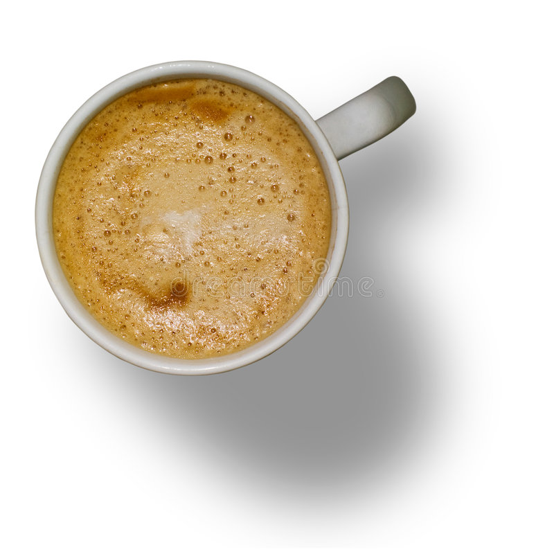 剪报咖啡杯查出的路径 库存照片