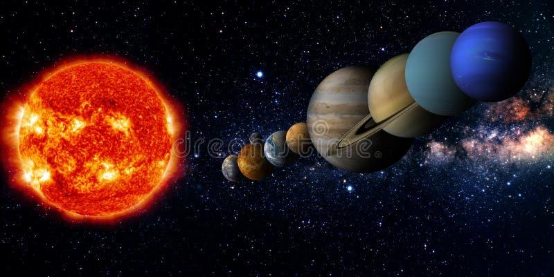 剪报地球重点水银路径太阳系金星 向量例证