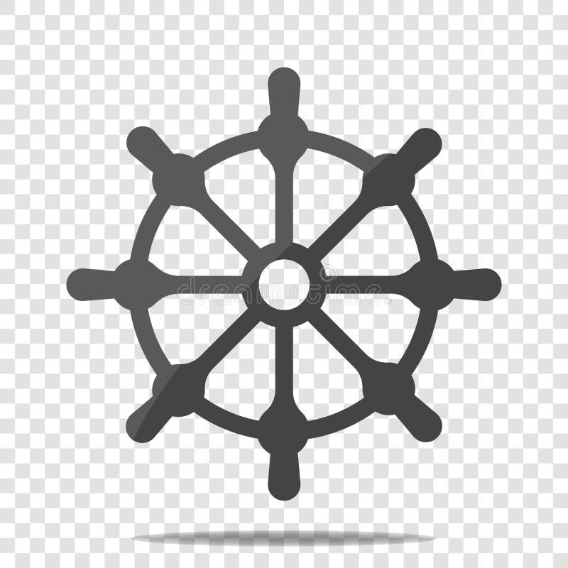 剪报查出在路径船轮子白色 小船方向盘象 为容易的编辑编组的层数 皇族释放例证