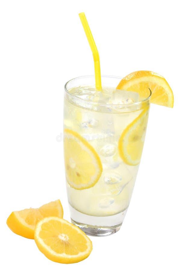 剪报查出柠檬水柠檬路径 库存图片