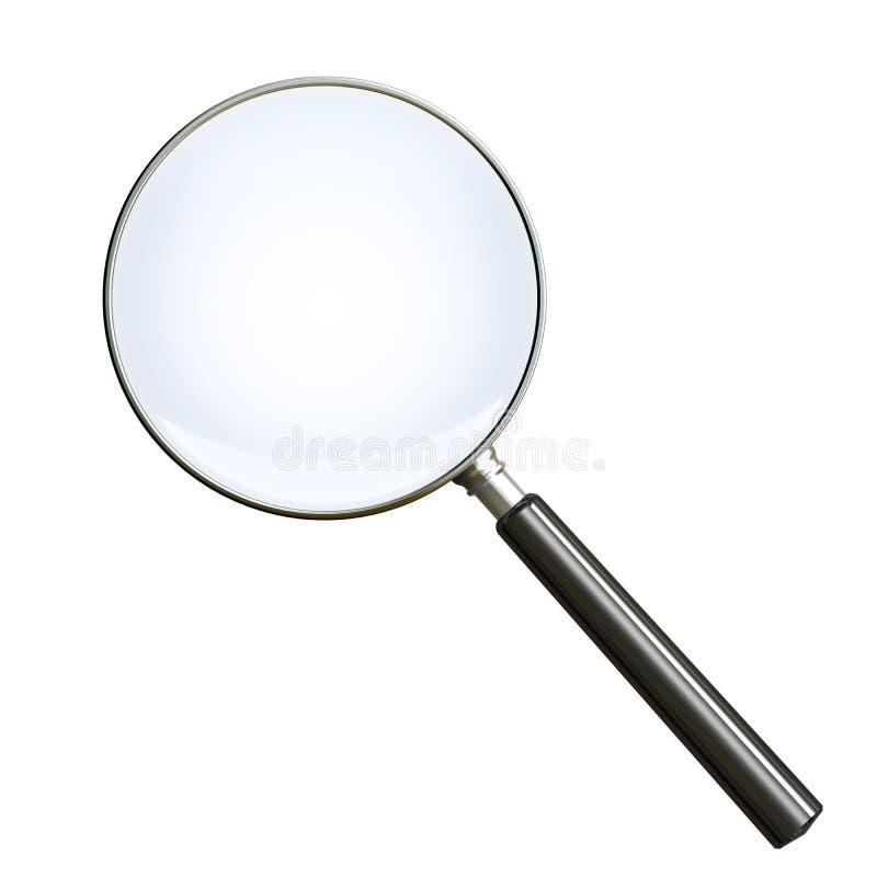 剪报玻璃包括的扩大化的路径白色 皇族释放例证
