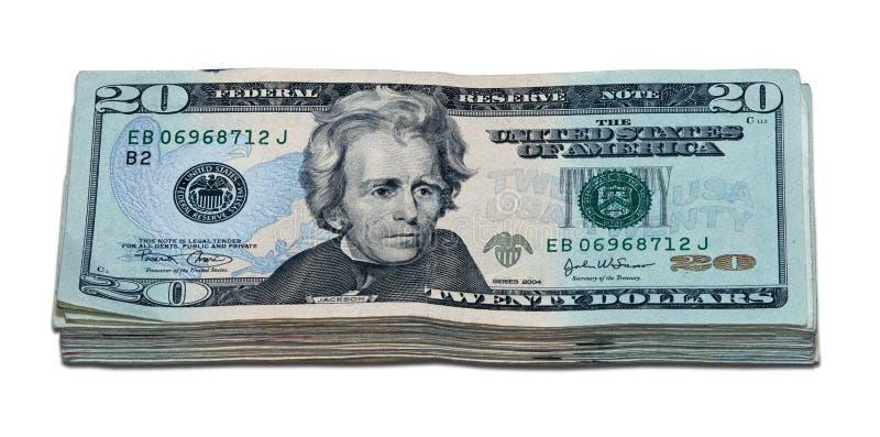 剪报美元一个路径一千 免版税库存图片